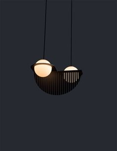 While Bauhaus and Modernism continue to be familiar inspirations for the studio, with the  Laurent  collection,  Lambert & Fils  takes a distinctly contemporary tack.  The studio distills a globe pendant's duality between sphere and circ