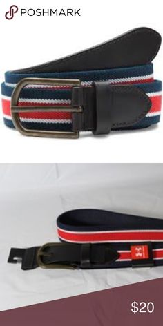 fc5a136ed NWT UA Golf Belt Under Armour Mens Stretch Belt Navy Blue Red White Under  Armour Accessories Belts
