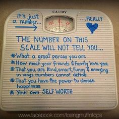 Evil thing the scale can be - if you let it.  I remember being obsessed with the scale from the age of 11-20!!! I would weigh in every day, multiple times, and be so happy of the weight loss after going to the bathroom.   As a coach, we recommend weighing in no more than once a week.  I don't know the last time I weighed in.   Amazing what eating clean, Shakeology, and the in home workouts have done for my body! Strong is the new skinny! Are you with me? No obsessing?