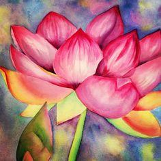 Lotus Flower by Gail Davis (watercolor)