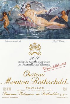 Chateau Mouton Rothschild has unveiled a wine label designed by controversial modernist artist Jeff Koons for its 2010 vintage.