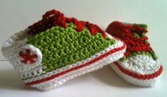 BabyChucks SchuheWMNationalfarbe Italien von GittisHandarbeiten, €12.00