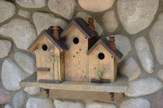 Decorative Handmade Birdhouse Primitive by BirdhousesByMichele