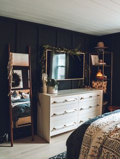 Winter Bedroom, Cozy Bedroom, Bedroom Decor, Bedroom Ideas, Small Living Rooms, Dresser As Nightstand, New Room, Interior Design Living Room, Home Remodeling
