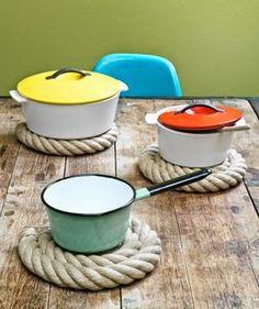 DIY- rope coasters.