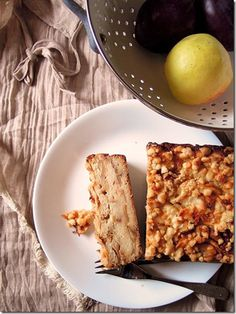Apple brioche pudding, layers of buttery creamy sweetness
