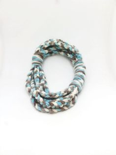 chain scarf in bluewhite gray   infinity scarf by Themagicofcolors, $39.90