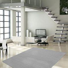 Tapis de salon casa pura® London gris clair | taille 160x230cm | haute résistance - dos antidérapant