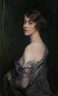 Evelyn (d.1942), Marchioness of Downshire, 1919 by Philip de Laszlo (1869-1937). Although de Laszlo was Hungarian he spent most of his working life in England, and was one of the major British society portratists of his day.