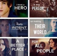 Percy, Thomas, Tris, Harry, Clary and Katniss. truest thing ever