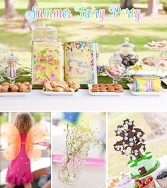 Summer Fairy Birthday Party! on http://pizzazzerie.com