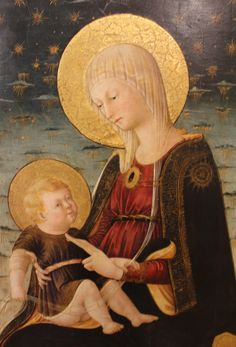 Neri di Bicci - La Vergine e il Bambino - circa 1450 - Musée du Petit Palais, Avignon Lady Madonna, Madonna And Child, Italian Paintings, Old Paintings, Early Christian, Christian Art, Images Of Mary, Blessed Mother Mary, Art Thou