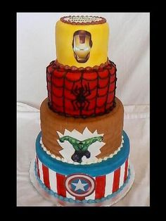 "the description before this was ""avenger cake"" it is in fact a superhero cake because Spider-Man is not an avenger. get it right people"