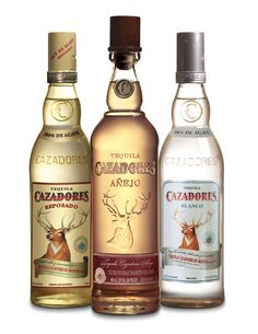 Cazadores Tequila: Reposado, Anejo Bianco - pair any of these with a recipe of Malone's and you've got yourself a gathering! Tequila Mix, Tequila Beer, Mezcal Tequila, Tequila Bottles, Vodka Bottle, Tequila Drinks, Hard Drinks, Fun Drinks, Alcoholic Drinks