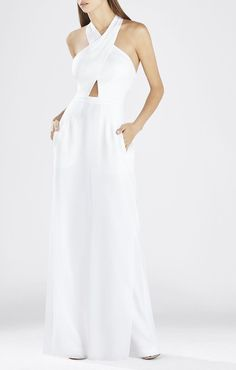 c920aa5657 Pin for Later  There s Been Some Bad Blood Over Taylor Swift s White  Jumpsuit BCBG Josselyn Halter Top Jumpsuit ( 338)