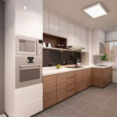Browse photos of Small kitchen designs. Discover inspiration for your Small kitchen remodel or upgrade with ideas for organization, layout and decor. Modern Kitchen Cabinets, Kitchen Cabinet Design, Modern Kitchen Design, Interior Design Kitchen, Modern Interior Design, Wooden Cabinets, Kitchen Layout, Kitchen Sets, New Kitchen