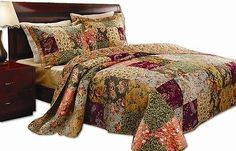 #Reversible victorian patchwork quilt #queen bed in bag set bedspread soft #sleep,  View more on the LINK: 	http://www.zeppy.io/product/gb/2/151793779657/