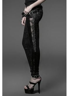 Punk Rave Luna Trousers | Attitude Clothing