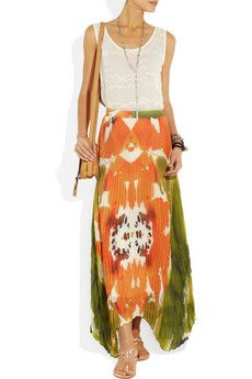 Alice + Olivia printed chiffon skirt   # Pin++ for Pinterest #