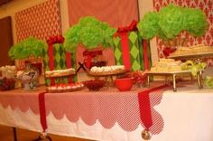 Set A Pretty Christmas Buffet — Celebrations at Home - You can hang poinsettas