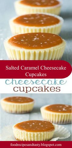 Salted Caramel Cheesecake Cupcakes - these are one of my favorite desserts! Salted Caramel Cheesecake Cupcakes - these are one of my favorite desserts! Cheesecake Cupcakes, Cheesecake Recipes, Cupcake Recipes, Cheesecake Decoration, Turtle Cheesecake, Lemon Cheesecake, Strawberry Cheesecake, Cheesecake Bars, Pumpkin Cheesecake