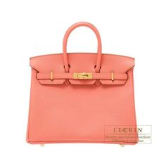 Hermes Birkin bag 25 Flamingo Epsom Leather Gold hardware from Discountpluss for $23,000.00 on Square Market