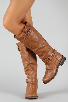 Dillian-7 Buckle Knee High Riding Boot. Only $38