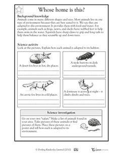 How animals adapt to habitat - Worksheets  Activities | GreatSchools