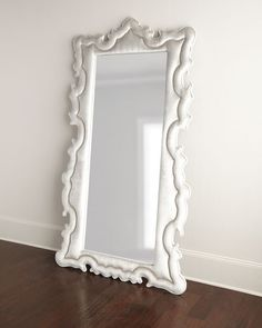 Antique white floor mirror ✨ on sale for $503.20 | interior ...