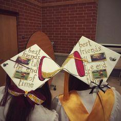 Best friend grad caps ❤