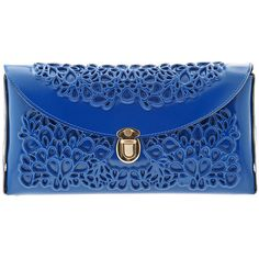 MeDusa Clutch - Blue (£86) ❤ liked on Polyvore featuring bags, handbags, clutches, purses, bolsas, handbags purses, blue clutches, blue purse, hand bags et plastic handbags purses