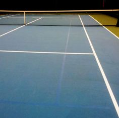 Our courts were last resurfaced in August 2012. Notice those light blue lines? They are for our 10 & under program so that our younger players can enjoy tennis without the stress of a full court. We use low-compression balls to minimize bounce.