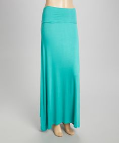 Look at this Seafoam Maxi Skirt on #zulily today!