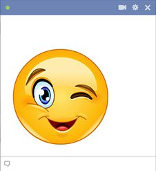 This cute winking smiley will convey your expressions perfectly and will also draw attention to your comment.