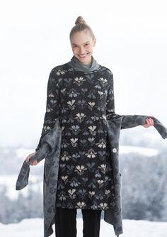 "Robe ""Isört"" en lyocell/élasthanne–Hiver blanc–GUDRUN SJÖDÉN – Kläder Online & Postorder"