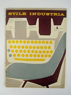 Stile Industria #1, 1954. Cover designed by Albe Steiner