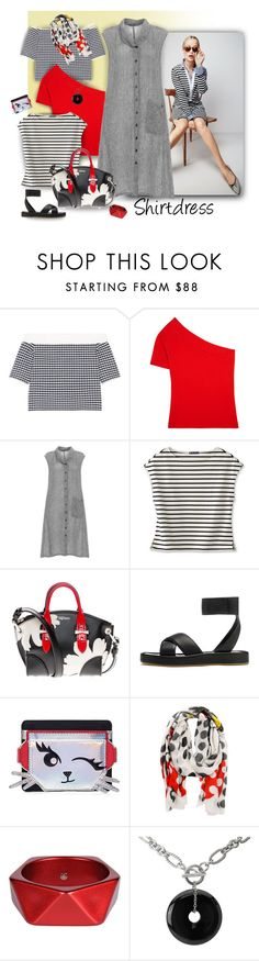 """It's a Shirt! It's a Dress! It's a Shirtdress!"" by ysmn-pan ❤ liked on Polyvore featuring J.Crew, Jonathan Simkhai, Jacquemus, Alexander McQueen, rag & bone, Karl Lagerfeld, Faliero Sarti, McQ by Alexander McQueen, Avanti and contest"