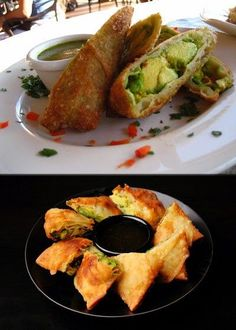 Avocado Egg Rolls & Dipping Sauce ~ Cheesecake Factory {copycat recipe} ... holiday party #appetizer
