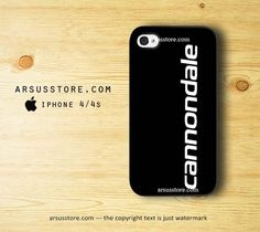 Cannondale Bike Team Bicycle Cycling Logo Black Solid iPhone 4 4s Case | Dalmanaz - Accessories on ArtFire