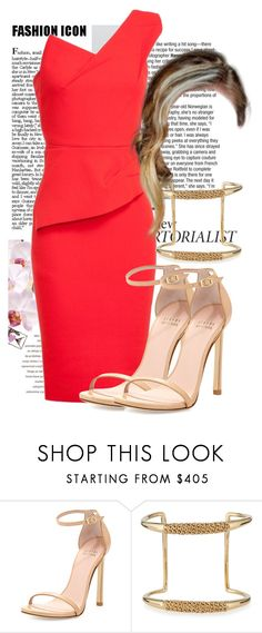 """Attending a rehearsal dinner in Roland Mouret"" by ivanoe ❤ liked on Polyvore featuring Stuart Weitzman and Chloé"