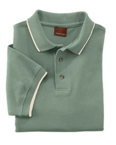 M210 M210 Men's Harriton Short Sleeve Pique Polo With Tipping,Features: 6 oz at Gotapparel.com.