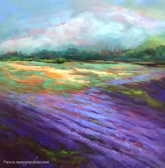 Violet Dusk Lavender by Nancy Medina
