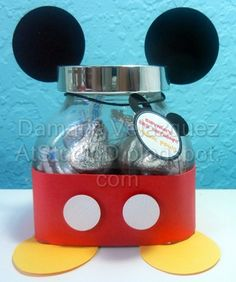MICKEY MOUSE CANDY JAR PARTY FAVORS - PRE-ASSEMBLED AND SHIPPED TO YOU | AtStudioD - Children's on ArtFire