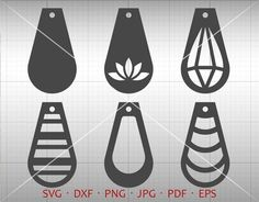 Teardrop SVG, Earring SVG, Pendant svg, Tear drop Vector DXF, Leather Earring Jewelry Laser Cut Template Commercial Use Diy Jewelry, Handmade Jewelry, Jewelry Making, Silver Jewelry, Leather Earrings, Leather Jewelry, Silhouette Curio, How To Make Earrings, Party Accessories