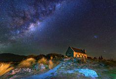 Church of the Good Shepherd, Lake Tekapo, New Zealand by sarawut Intarob on 500px