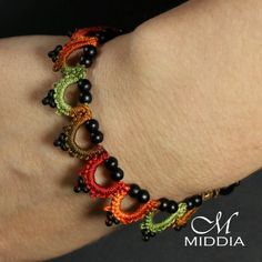 Frywolitka szydełkowa: Nowy wzór bransoletki - Bracelet - new idea