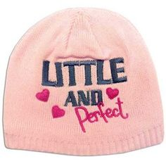 'Little and Perfect' cute kids beanie hat! £3.99