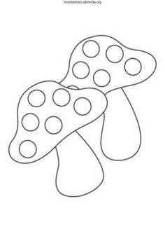disegno funghi colorare