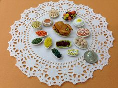 Miniature Thanksgiving meal I made as a workshop for my polymer clay Guild in Dallas, TX