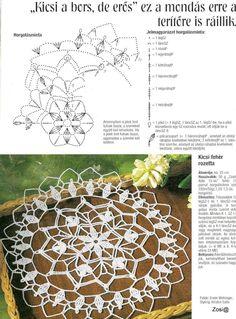 "Photo from album ""Diana Filehorgolas - - on Yandex. Crochet Doily Diagram, Crochet Mandala Pattern, Vintage Crochet Patterns, Crochet Circles, Filet Crochet, Crochet Dollies, Crochet Stars, Thread Crochet, Love Crochet"